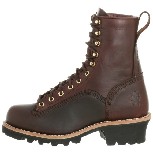 "Chippewa Men's 8"" Lace-to-Toe 73075 Logger Boot,Redwood,12 M US"