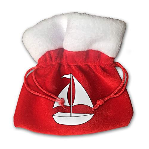 CYINO Personalized Santa Sack,A Sailboat Portable Christmas Drawstring