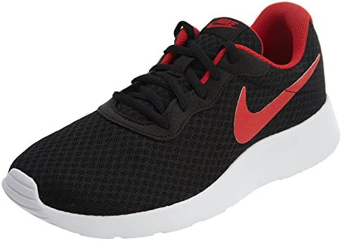 Nike Men s Tanjun Black University Red-white Running Shoe 10 Men US