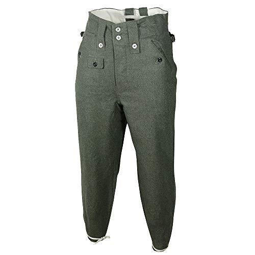 (Epic Militaria Replica WW2 German M43 Field Grey Wool Trousers (40 inch))