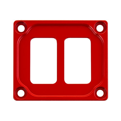 STV Motorsports Auto Dash Switch Panel for 2 Rocker Toggle Switches fits Car Truck RV UTV Marine Boat – Made in the USA (Red)