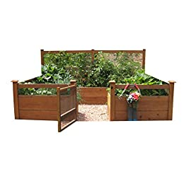 "Just Add Lumber Vegetable Garden Kit - 8'x12' Deluxe 20 DOES NOT INCLUDE LUMBER. Kit includes everything but the lumber: 12 Raised bed brackets, black plastic netting for fencing, black nylon netting for rear trellis, black vinyl-coated steel wire for gate, ceramic-coated rust resistant screws, plus all other required hardware and detailed instructions Buy your own rough lumber locally - Build the ultimate vegetable garden with this kit. Required rough construction lumber : (6) 2""x10""x12', (6) 2""x10""x8', (5) 2""x4""x12', (1) 2""x4""x6', (4) 2""x2""x12', (3) 1-5/8""x1-5/8""x12' (actual size). Note: the lumber boards will need to be further cut into the sizes described in the assembly instructions Gated garden keeps out rabbits and dogs"