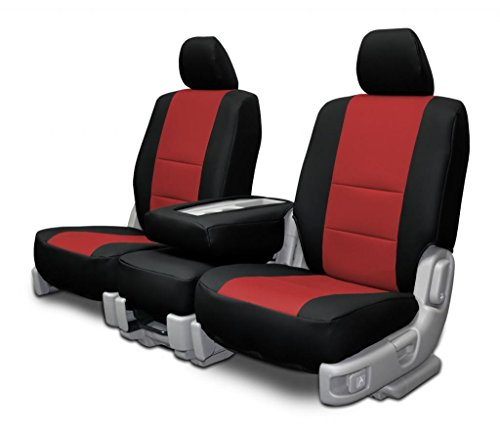 Custom Seat Covers for Mazda 6 Sedan Front Low Backs Red Insert (Mazda 6 Sports Sedan)