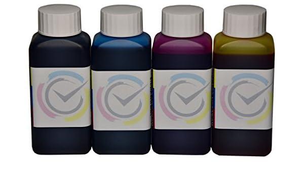 4 botellas de tinta de 100ml compatible cartuchos HP 21 / 22 para ...