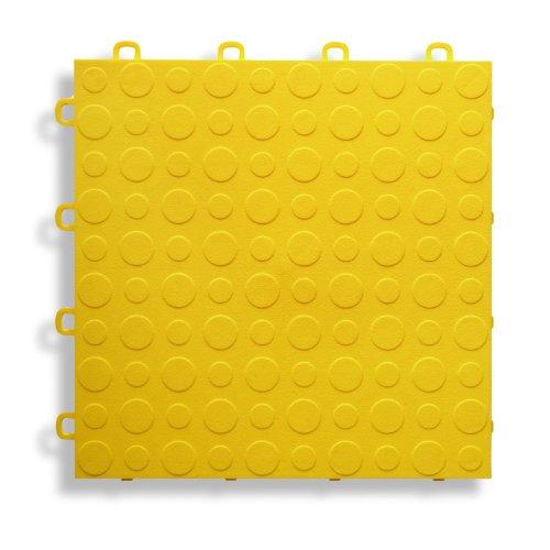 MODUTILE Interlocking Modular Garage Flooring Tile, Coin Top (30 Pack) (Yellow) by MODUTILE (Image #1)