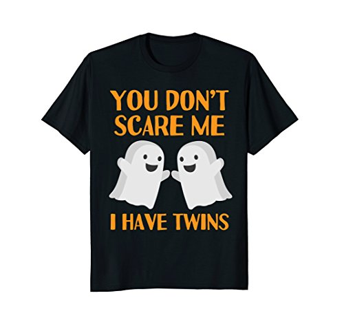 Mens Funny Mom Dad Parents of Twins Halloween Shirt 3XL Black -