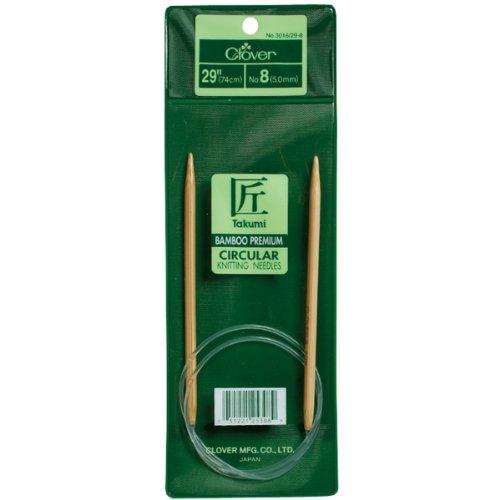 Clover Takumi Bamboo Circular 29-Inch Knitting Needles, Size 5