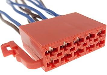 Iso Stecker Rot 10 Polig Radio Adapter Mit Kabel Elektronik