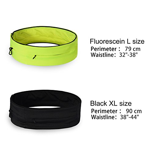 RUNACC Running Belt Waist Pack Large Capacity Jogging Belts with Zipper, Phone Bag