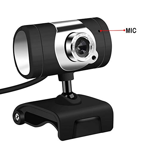 EKUPUZ Full HD Rotatable Webcam Camera Clip On Plug & Play USB Webcam with Built-in Dual Microphone for Computer PC Laptop Desktop for Home and Office
