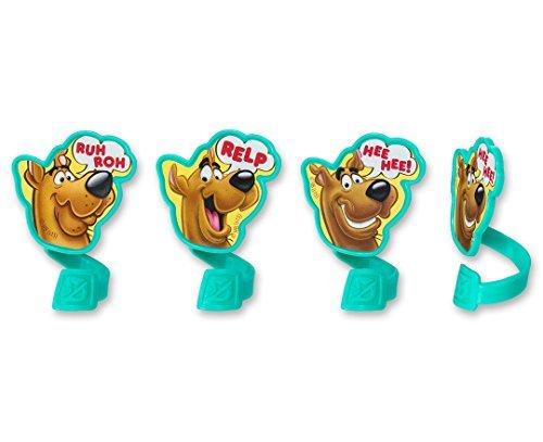 CakePicke cake cupcake topper Scooby-Doo! Ruh Roh Cupcake Rings - 12 Ct -