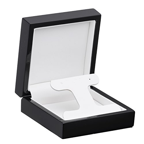 (Allure Imperial French Clip Earring Box, Black)