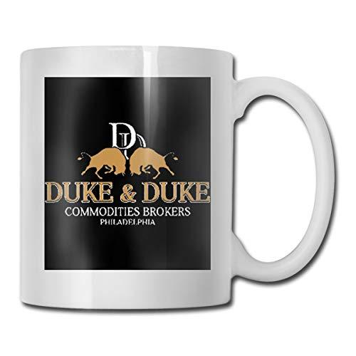 Trading Places Duke And Duke Funny Coffee Mug,Tukiv Ceramic Mug Tea Cup For Office/Home,Funny Novelty Gift