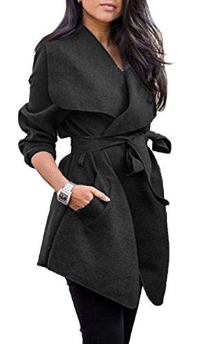 Wool Belt Tie Coat Jacket - 2