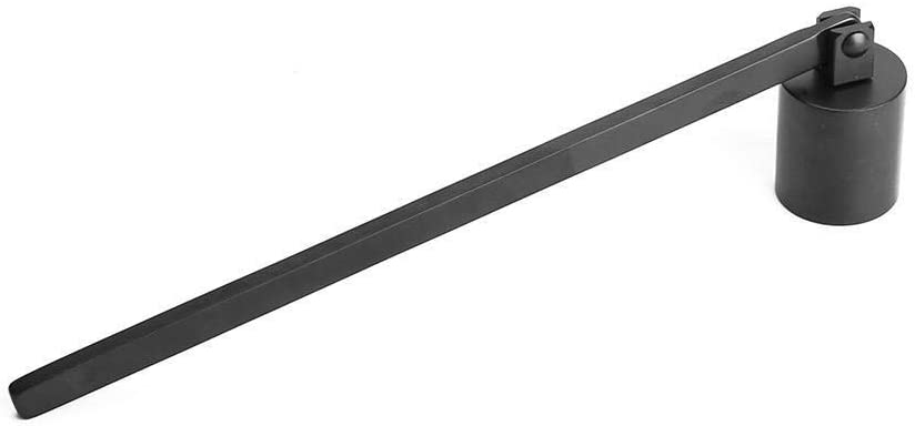 KSTE Stainless Steel Straight Tube Shaped Candle Snuffer Wick Trimmer Cover Hand Tool Black