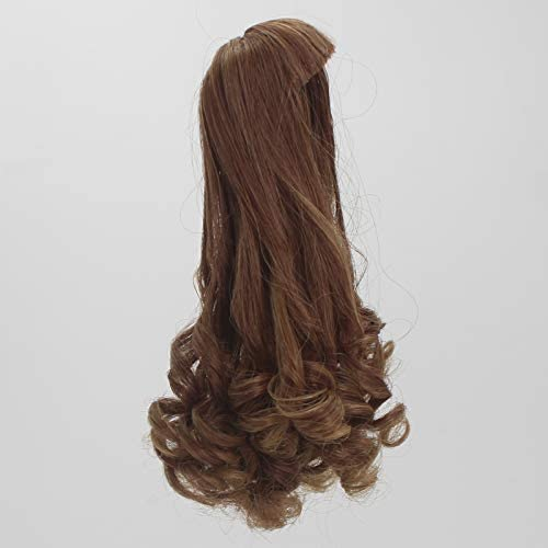 18cm Doll DIY Wig Curly Hair with Full Bangs for 27-30cm Doll DIY Making Accessories