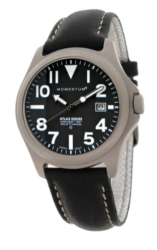Momentum Men's 1M-SP00B2B Atlas Classic Analog with Titanium dial Watch