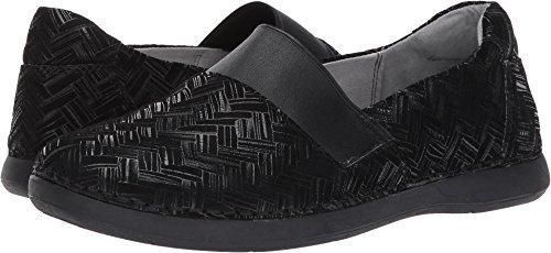 Alegria Women's Glee Interlockin' Black Flat Shoes (GLE-588) Size: Euro 36 \ US 6-6.5, Width: Medium