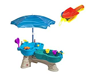 Step2 Spill & Splash Seaway Water Table (Deluxe Pack - Includes Umbrella & Sand Toys)
