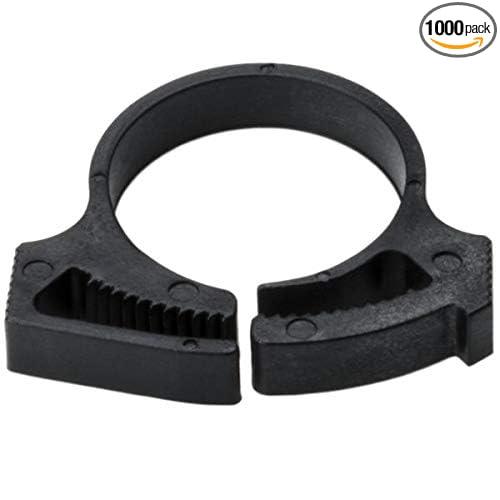 Black 1000//pkg PA66GF13/% HellermannTyton SNP18AGHS0M4 Snapper Hose Clamps.784//.928 Min//Max Diameter