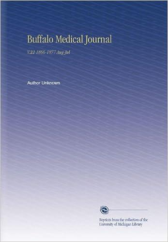 Buffalo Medical Journal: V.22 1866-1877 Aug-Jul