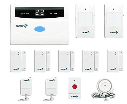Fortress Security Store (TM) S02-A Wireless Home and Business Security Alarm System DIY Kit with Auto Dial, Motion Detectors, Panic Button and More for Complete (Motion Sensor Alarm System)