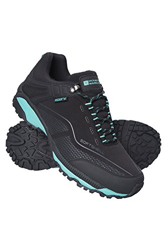 Mountain Warehouse Collie Womens Waterproof Shoes - Walking Shoe Black Womens Shoe Size 8 US (Best Shoes For Mountain Hiking)
