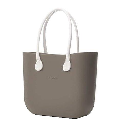 OBAG Bolsa O bolso Grande roca con bolsa Interior, Mango Largo sintética Color blanco: Amazon.es: Zapatos y complementos