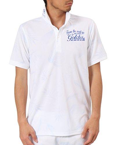 ガッチャゴルフ GOTCHA GOLF 半袖シャツ?ポロシャツ ドライ総柄ボタニカル半袖ポロシャツ
