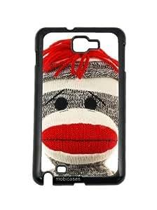 Sock Monkey Face Samsung Galaxy Note 2 Note II N7100 Case - For Samsung Galaxy Note 2 Note II N7100