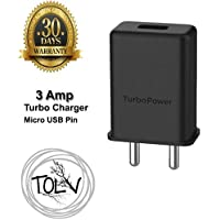 JUST00002 TOLV Micro USB Turbo Power 3.0 ampere 25 W Mobile Charger for All Motorola and Android Phones