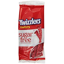 Twizzler Sugar Free Twists Candy Strawberry Bag, 5 OZ (Pack of 12)