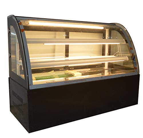 INTBUYING 47'' Countertop Bekery Cabinet Display Case Glass Refrigerated Cake Showcase 220V 315W ()