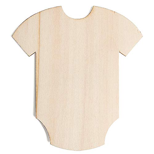 Factory Direct Craft Unfinished Wood Baby Onesie Cutout | 24 Pieces