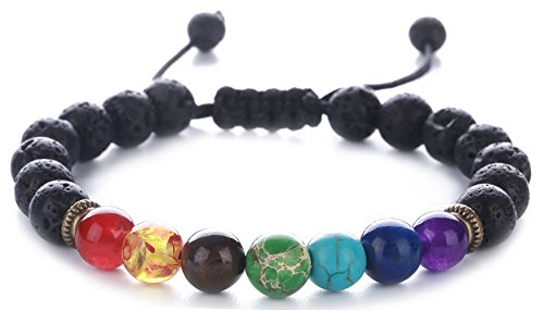 Hamoery Bracelet Braided Natural Chakras