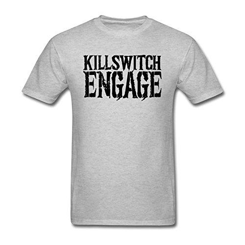 LSLEEVE Men's Killswitch Engage Logo Grey T-shirt