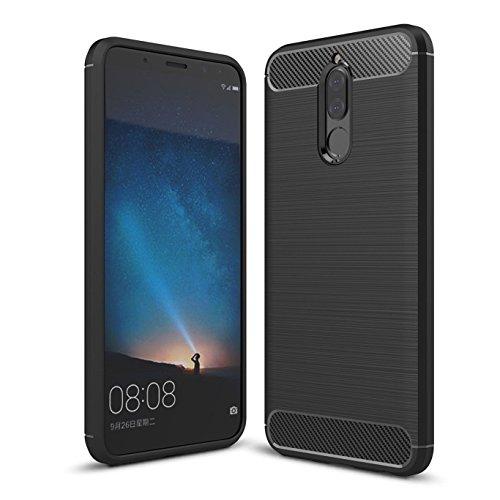 Funda Huawei mate 10 lite / Huawei Nova 2i , Funda de silicona suave a prueba de golpes con cubierta de protección de...