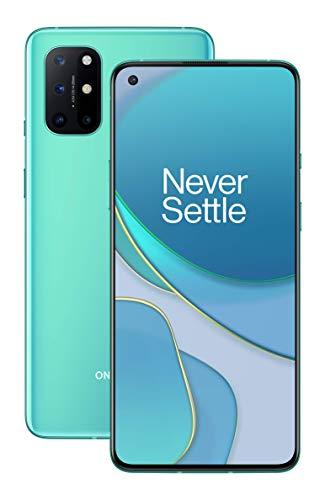 """OnePlus 8T Smartphone 6.55 """"120 Hz FHD + Display Fluido, 12 GB di RAM + 256 GB di Spazio di Archiviazione, Quad camera, 65 W Warp Charge, Dual SIM, 5G, Aquamarine Green 1"""