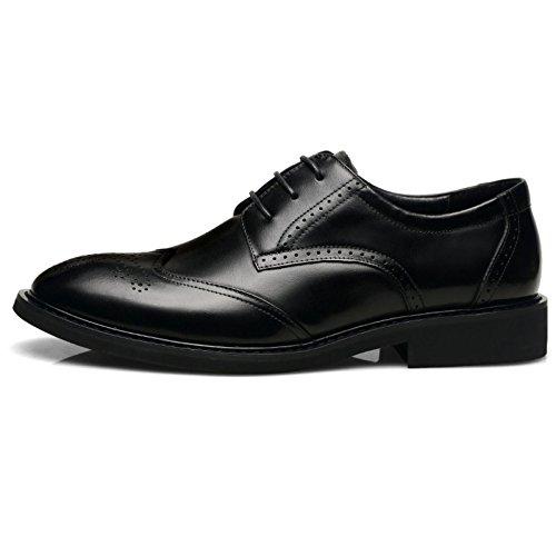 Black In Pelle Oxford Lavoro Da Scarpe Pelle In Scarpe Da Con Classiche Uomo Cuciture FF0qOvp