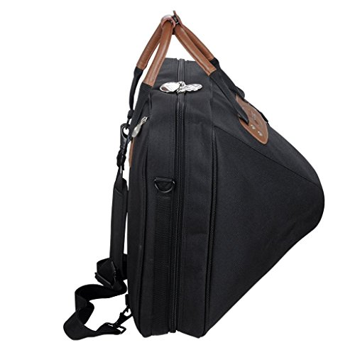Jinchuan Deluxe French Horn Gig Bag Case Light Weight High Density Foam Padding E-6A Black by Jinchuan (Image #5)