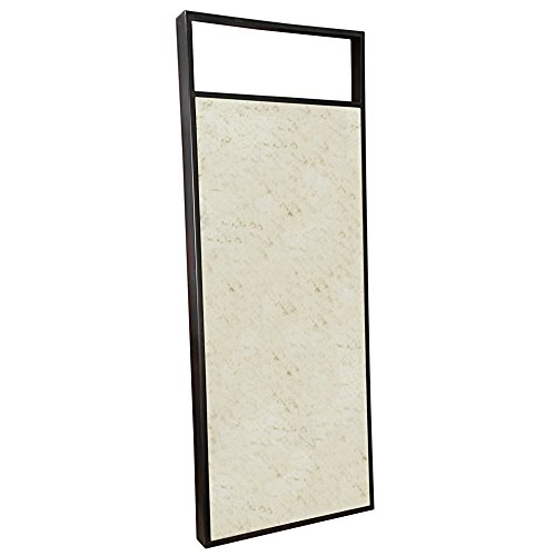 Kathy Kuo Home Nate Industrial Loft Modern Antiqued Mirror - 72 inches high x 28 inches wide x 4 inches deep Constructed from metal and antiqued mirrored glass Due to weight, must be hung on stud - mirrors-bedroom-decor, bedroom-decor, bedroom - 41qQjdkhNkL -