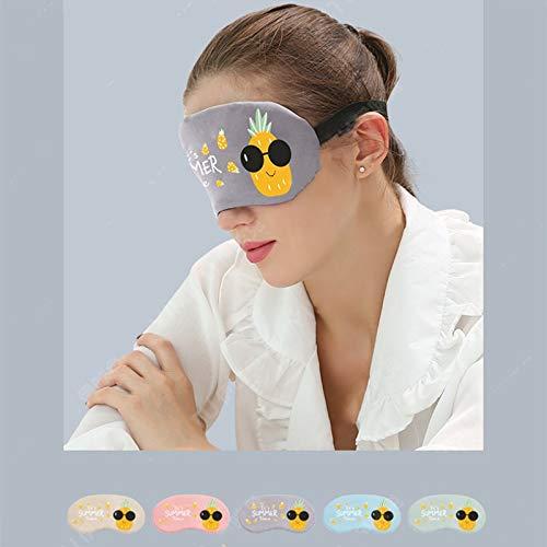 1 Pc Eye Face Sleep Mask Blindfold Eyeshade Traveling Aid Cover Goggles Nap Eye Shade Cool Summer Day Fruit Pattern Random -