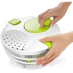 Salad Spinner, Large Manual Salad and Vegetable Washer Spinner, 5-Liter
