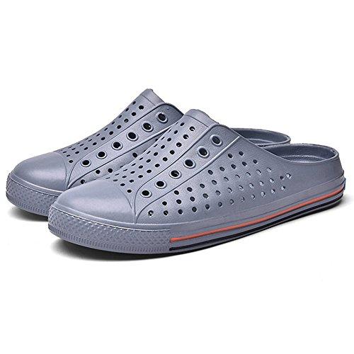 Antideslizante Sandalias Azul de UK4 Sandalias Gris Verano Color de Antideslizante Zapatos Pareja Suave Zapatos Zapatillas CN36 Tamaño Baño MAZHONG EU36 Playa Estudiante q46PPA