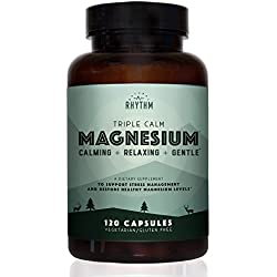 Triple Calm Magnesium - 150mg of Magnesium Taurate, Glycinate, and Malate for Optimal Relaxation, Stress and Anxiety Relief, and Improved Sleep. 120 Capsules.
