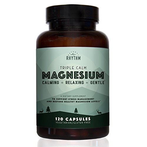 Triple Calm Magnesium - 150mg of Magnesium Taurate, Glycinate, and Malate for Optimal Relaxation, Stress and Anxiety Relief, and Improved Sleep. 120 Capsules. (Best Magnesium For Depression)