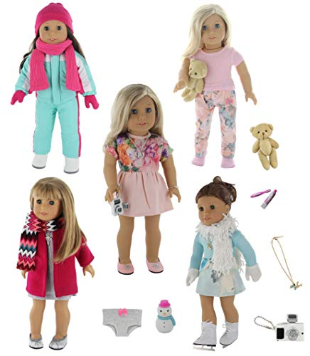 PZAS Toys 18 Inch Doll Clothes -...
