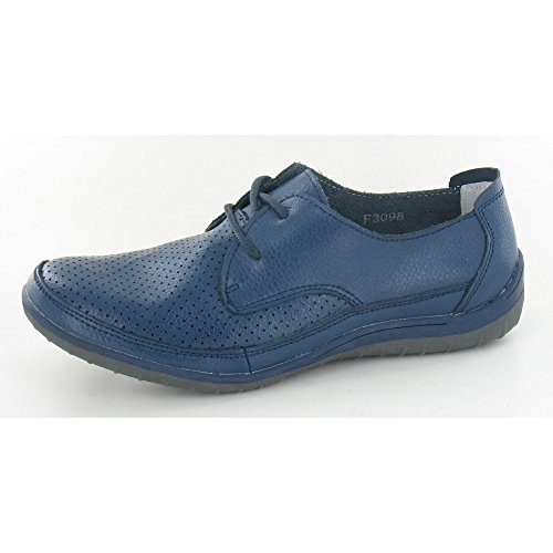 Perforada Down Piel de Zapatos Azul To Earth Planos Marino YwfYg6q