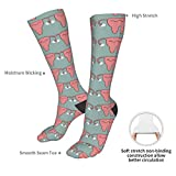 LASWEGA Men Women Uterus Pink Socks Fun Crazy