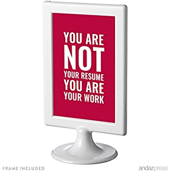 Amazon.com: Andaz Press Office Framed Desk Art, You Are Not Your ...